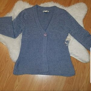 NWT Cardigan Sweater Large Blue Sarah Spencer